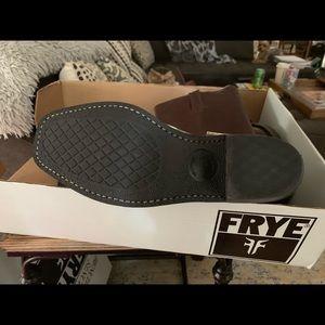 Frye Shoes - Dark brown harness Frye boots